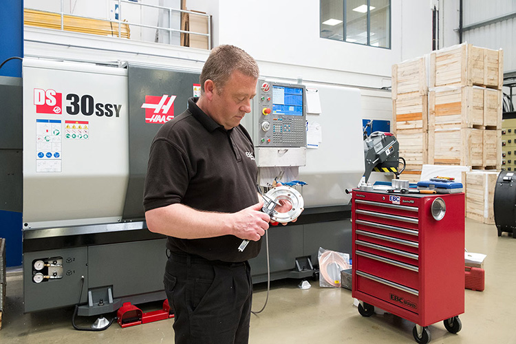 Haas lathe boosts stopping power