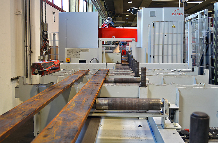 Automated sawing, sorting and stacking