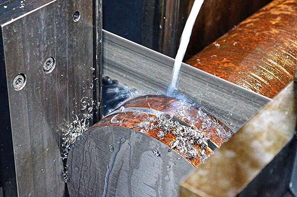 Bandsaw halves cutting times