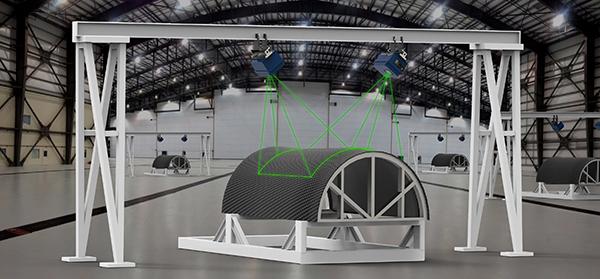 Laser projector optimises manufacturing