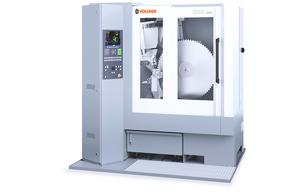 Curtain up for the Vollmer CHX saw blade grinder