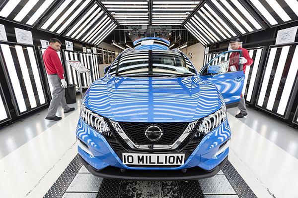 10m vehicles built at Nissan Sunderland
