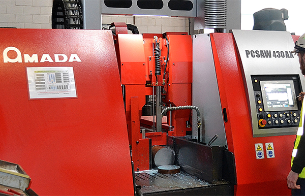 Two Amada saws installed at Barrett Steel