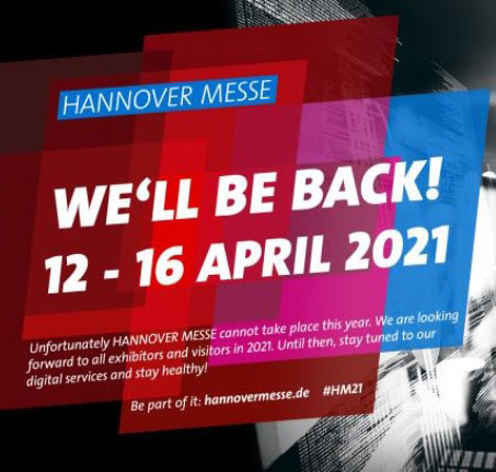 BREAKING NEWSNo HANNOVER MESSE in 2020