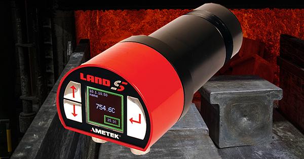Pyrometer for aluminium forging