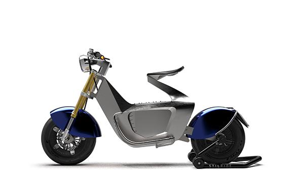 Robots fold scooter into shape