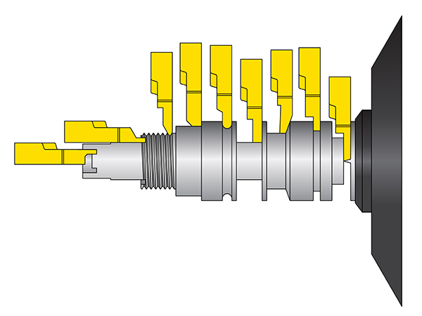 New tools for sliding-head lathes